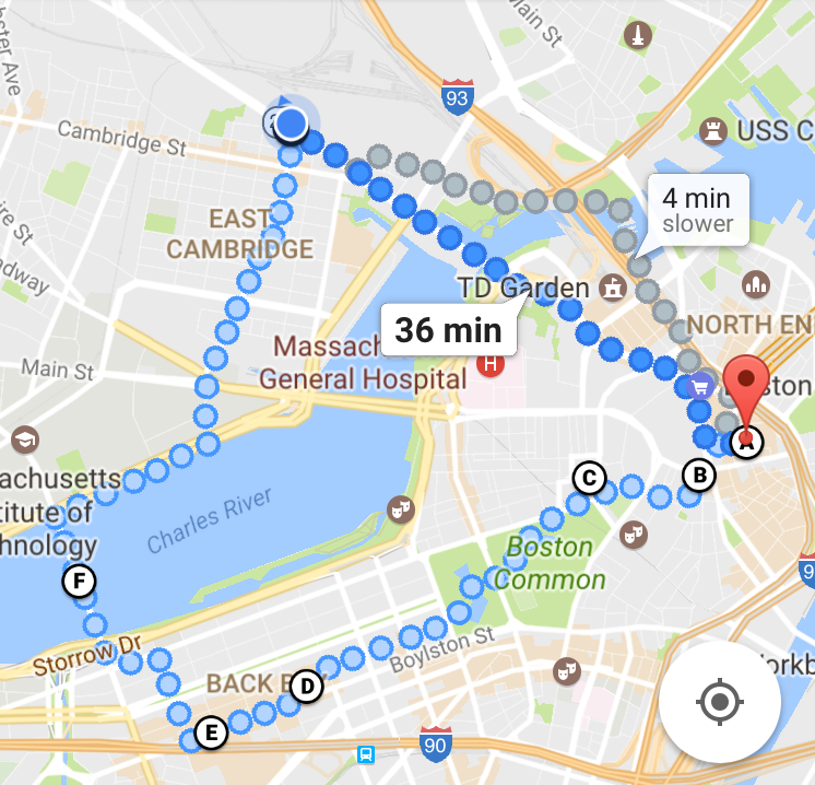 Part of the 13 miles of walking I did in Boston on Friday