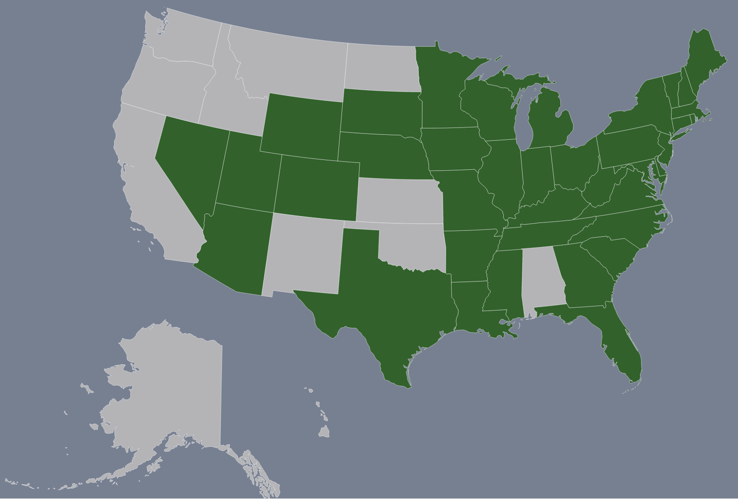 Map of the U.S. States I've been to thus far