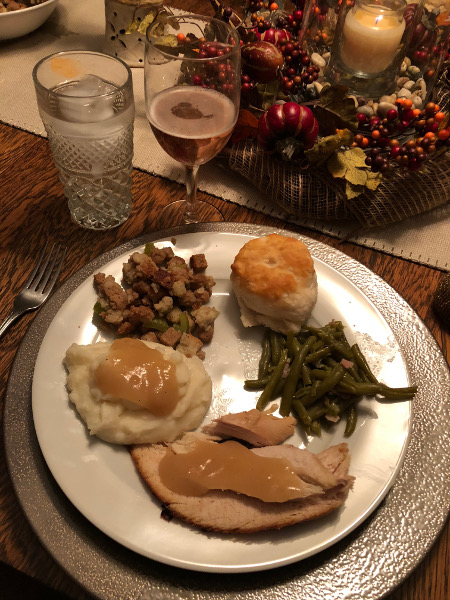 A wonderful plate of my Thanksgiving favorites.